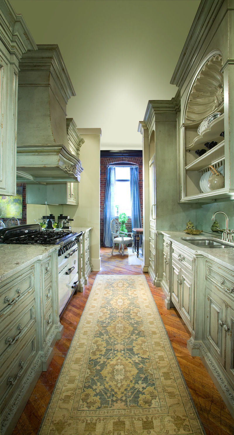 Galley kitchen offers touch of grand design for smaller for Galley kitchen layouts for small spaces