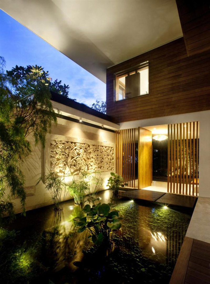 Beautiful sustainable green the meera house architecture for Home design with indoor garden