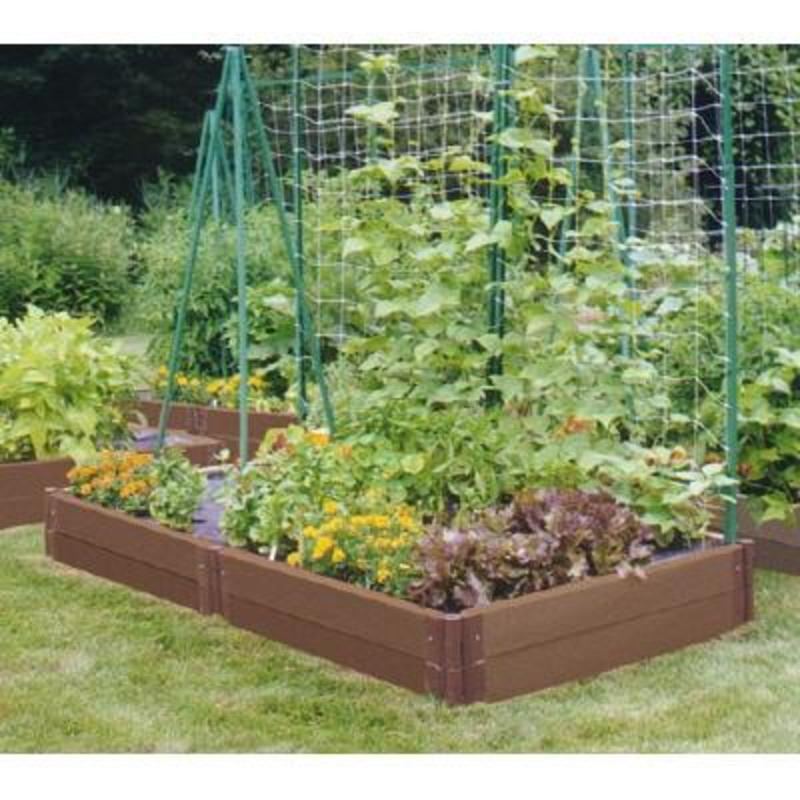 Contemporary family garden design ideas home design scrappy for Raised vegetable garden bed designs
