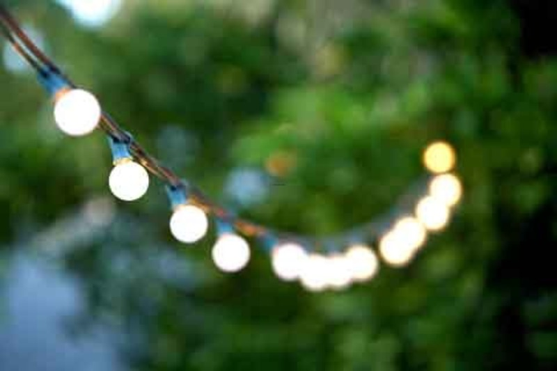 Exterior White String Lights : Patio Lights Center / design bookmark #12929