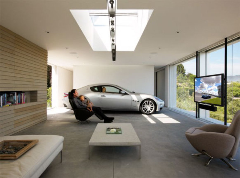 Home inspiration blog archive 14 insanely cool car for Cool car garage ideas