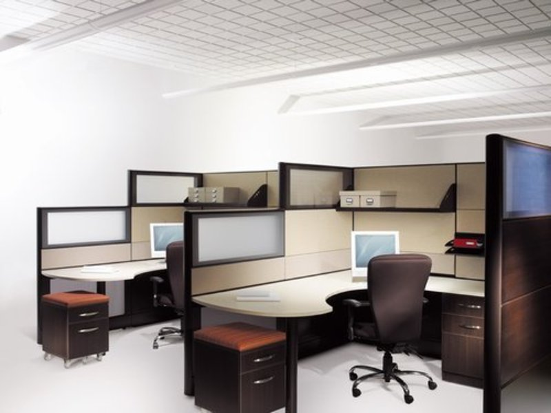 Modern office furniture los angeles with partition designs Computer office interior design