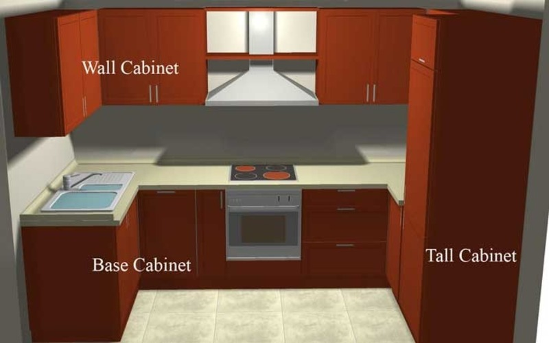 Small Kitchen Design Small Kitchen Cabinet Design For 3