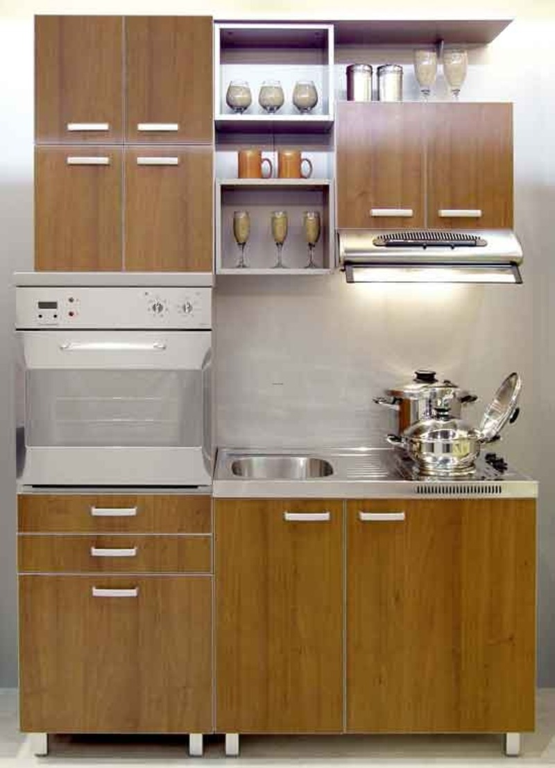 Kitchen modern design for small spaces afreakatheart Compact kitchen ideas