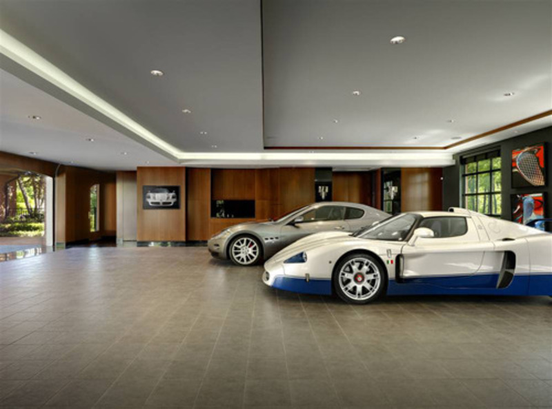 Luxury garages where women have no say luxury design for Luxury garage interiors