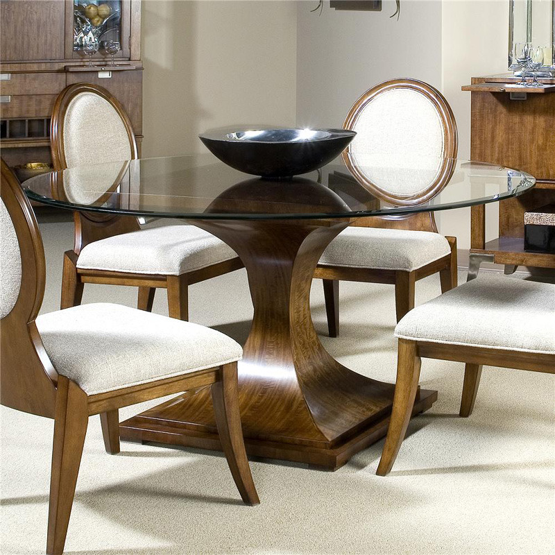 dining table furniture round glass top dining table. Black Bedroom Furniture Sets. Home Design Ideas