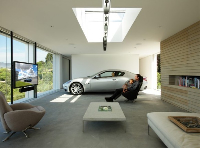 Interior Garage Designs, Spectaculer And Very Amazing  Insanely Cool Car Garage Design By Holger Schubert