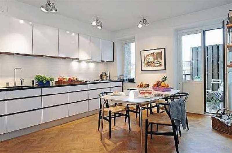 Scandinavian Kitchen Design Kitchen Design I Shape India For Small Space Layout White Cabinets