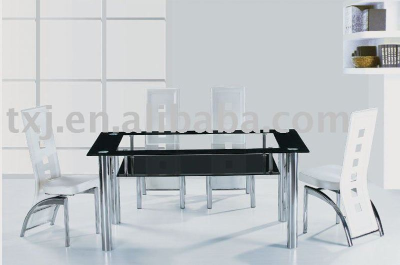 Metal Glass Dining Table Modern Dining Set Products Buy Metal Glass Dining T