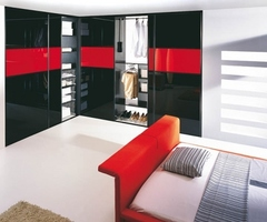 Bedroom Interior Design Ideas Sliding Doors Komandor Red Black « Flooring « Room Images, Photos And Pictures Gallery « Design Wagen