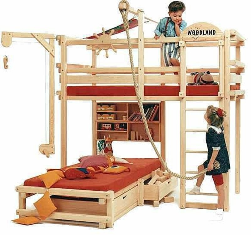 Kids Bunk Bed with Slide 800 x 751