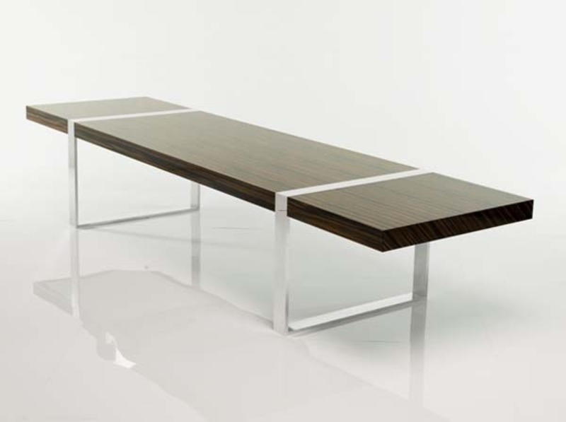 Modern in minimalist concept roy design bookmark 13400 for Long contemporary dining tables