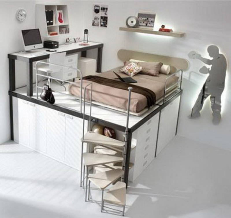 Uk wood design furniture ideas cool bunk beds with desks - Cool loft bed designs ...