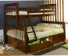 Solid Wood Kids Bunk Beds / White Twin Full Bunk Bed For Sale