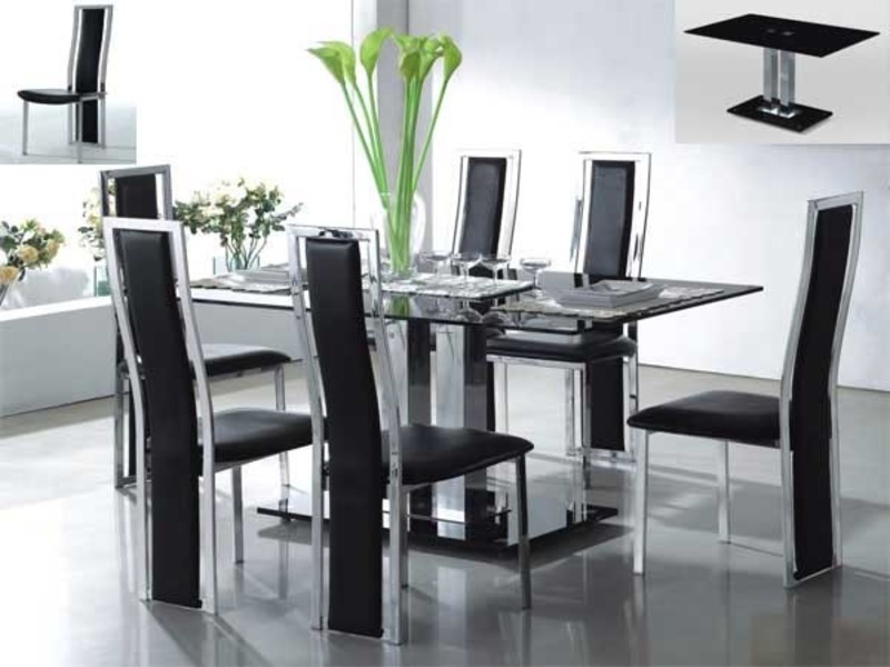 Modern Glass Dining Table, Modern Glass Dining Table And Chairs Ideas