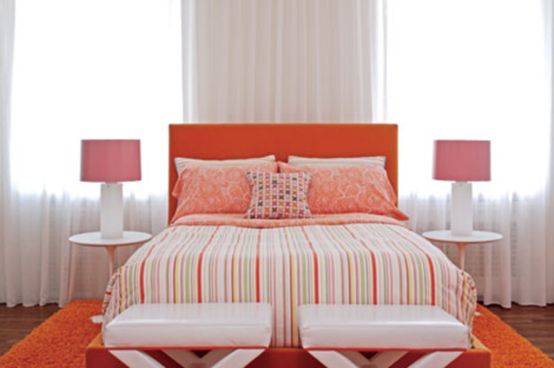 bedroom orange wall child s bedroom orange look feminine and
