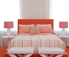 Child'S Bedroom Orange Look Feminine And Romantic