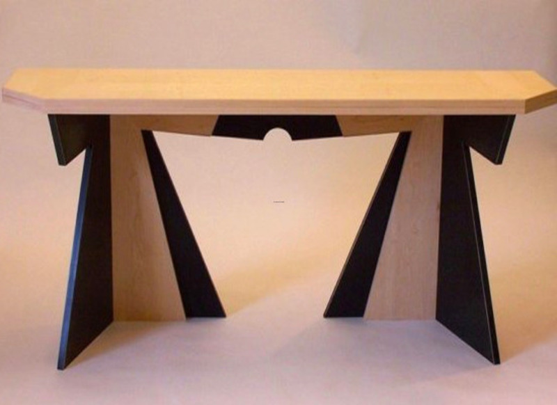 Console table design as well long dining table design for Long table design