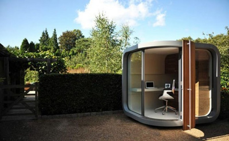 Tiny House Backyard Office : Creative Modern Small Prefab Home Office Design In Backyard ? Office