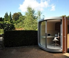 Creative Modern Small Prefab Home Office Design In Backyard – Office Pod