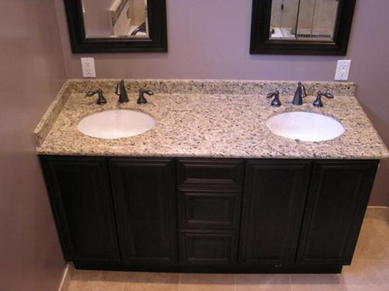 Bathroom granite countertops design bookmark 13536 for Double sink countertop bathroom