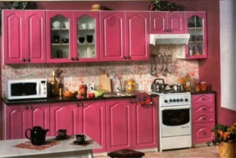 Pink kitchen 800 536 pixels kitchen ideas for Kitchen decoration pink