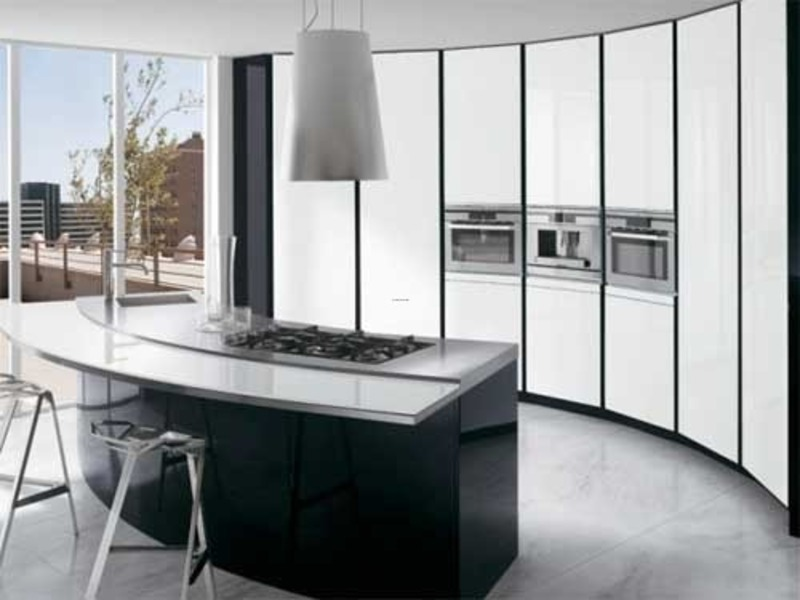 Black White Kitchen Cabinets, Kitchen Set With Black And White Style By Ernestomeda