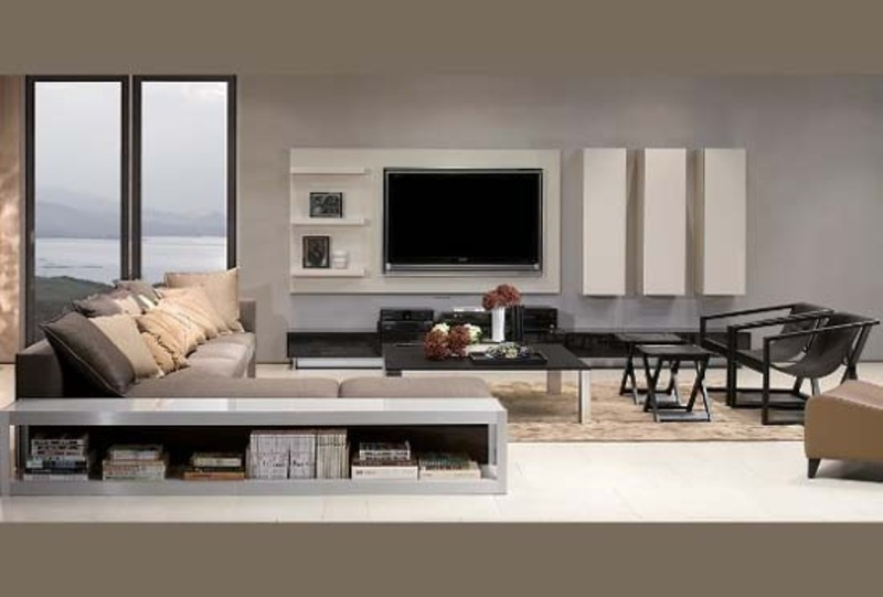 Stylish entertainments units and tv cabinets of genova Modern tv unit design ideas