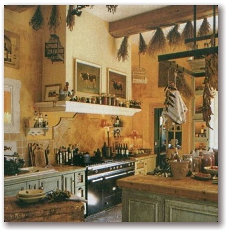 French Country Kitchens Design Bookmark 13647