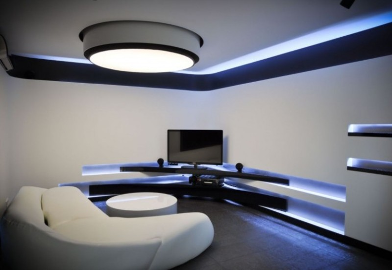 Ultra Modern Apartment Living Room Decoration Ideas Picture ...