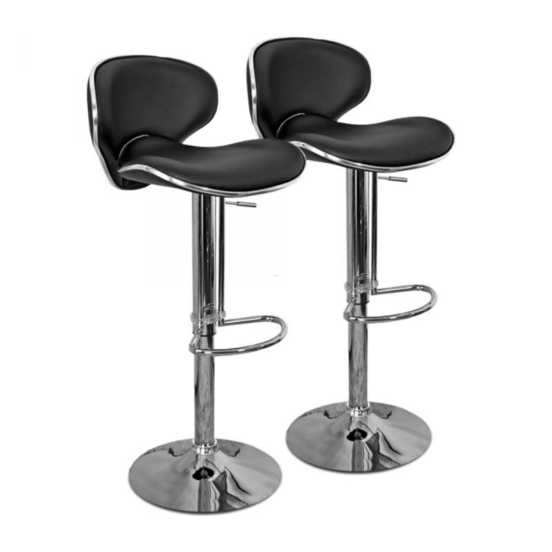 chaise de bar noire et design cobra set de 2 design