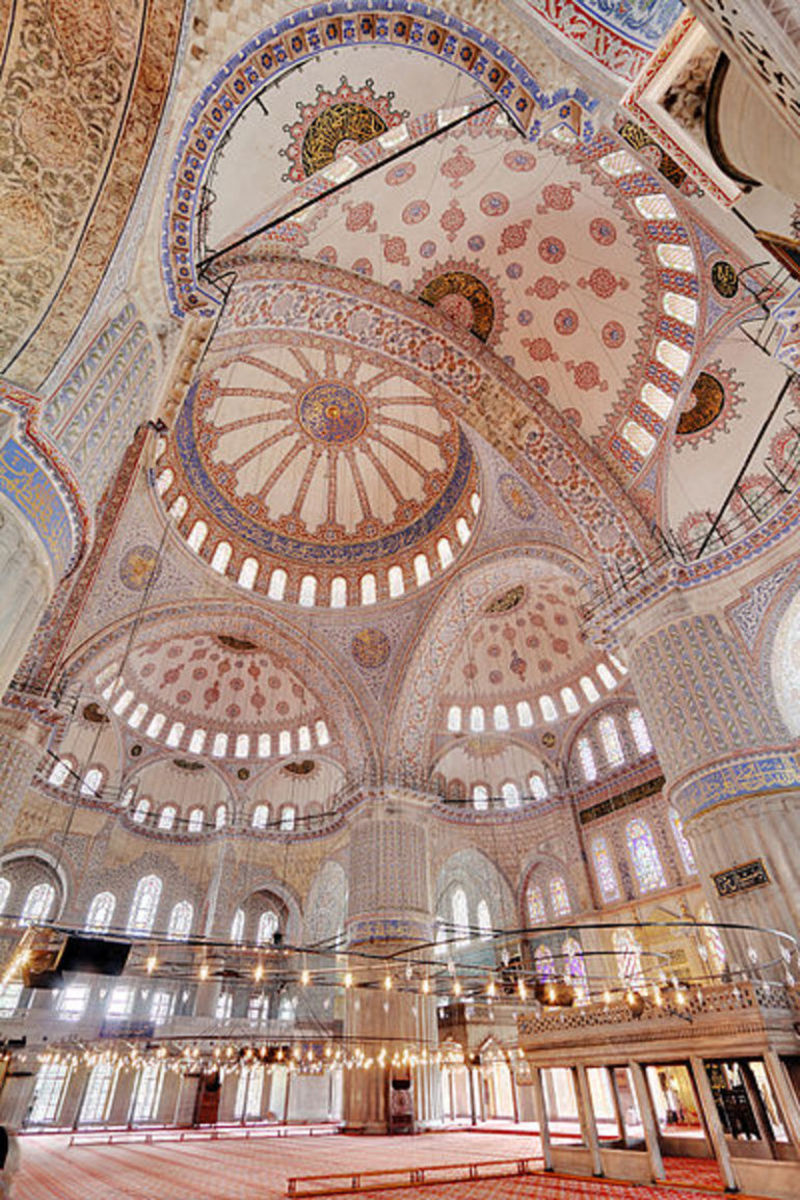 Mosque Interior Photos, Blue Mosque Interior