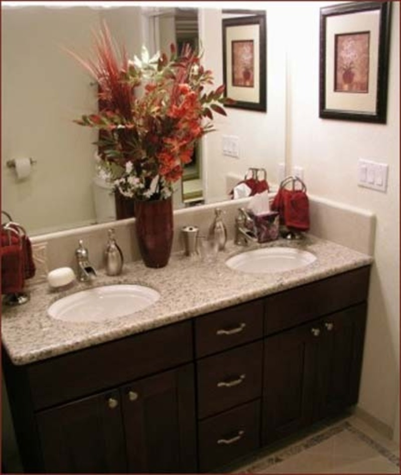 Granite bathroom countertops with pictures design for Two sink bathroom ideas
