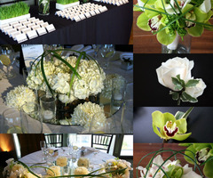 Prepare Wedding Dresses: Modern Flower Arrangements