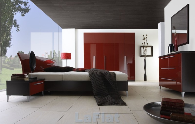 Red White Black Bedroom, Modern Red, White Black Bedroom Painting Image « Modern Red, White Black Bedroom Painting