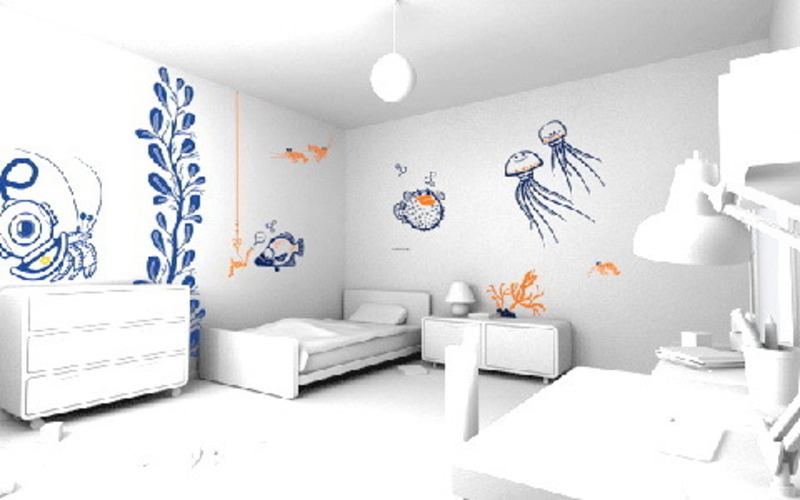 Modern Wall Paint Ideas, Modern Wall Decoration