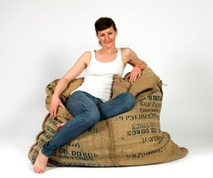 The Coffee Fellow Recycled Bean Bag Chair Is Perfect For Caffeine Junkies