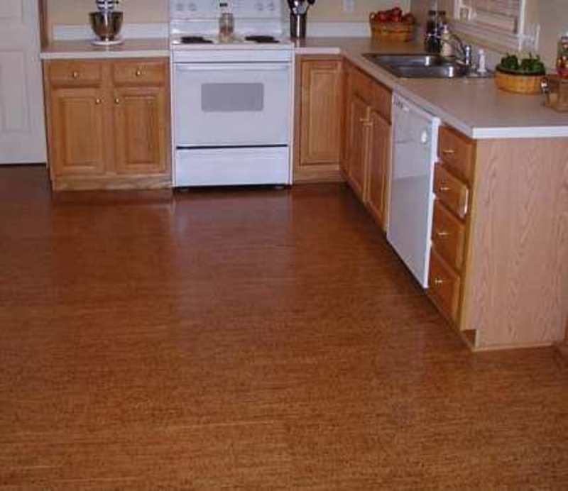 Cork tiles flooring design bookmark 13944 for Kitchen and floor tiles