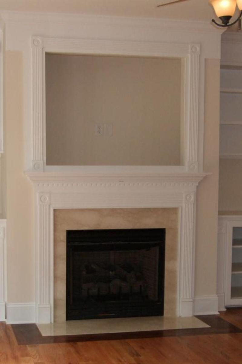 Fireplace Surround Ideas with TV 800 x 1203