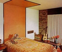Orange Bedroom Design Ideas Orange Bedroom Design With Wall Accent – Fun Design Ideas