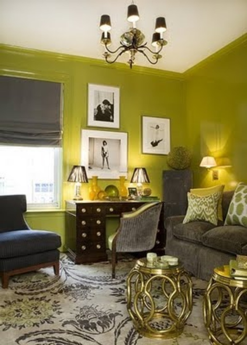 Yellow green living room ideas for small spaces design for Yellow green living room ideas