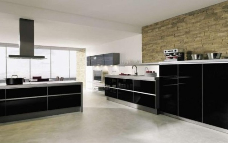 Modern kitchen design with wall tile 2 design bookmark for 2 wall kitchen designs