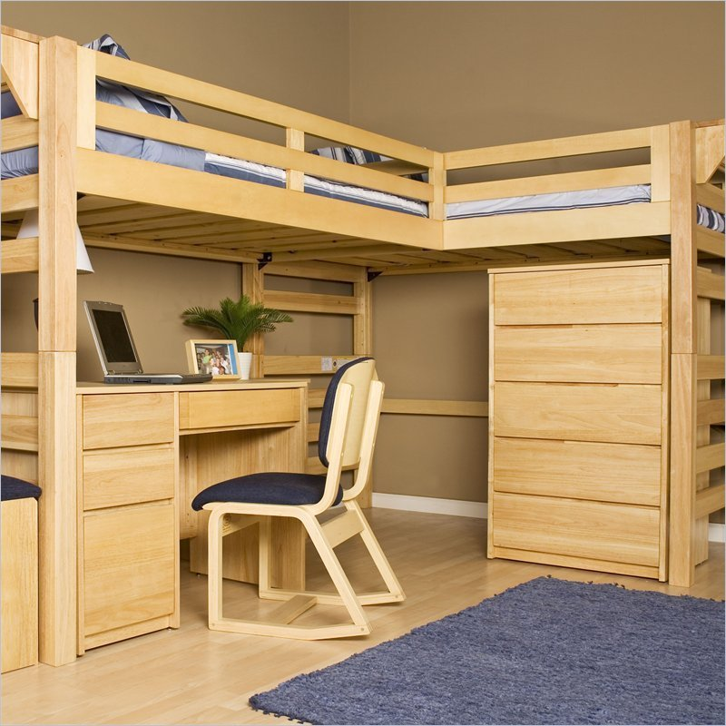 bunk bed plans storage