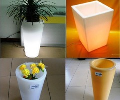 Rotomolded Outdoor Flower Pot Lights Asembly
