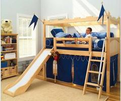 Bunk Bed With Slide: Kid'S Camelot Castle Twin Bunk Bed
