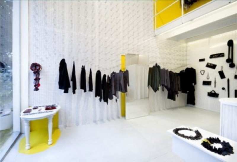 Interior Of Brand New Fashion Clothes Store Stock Photo, Picture