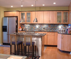 Spectralight Scalia Kitchen Backsplash / Spectralight Scalia Kitchen Backsplash / Multi Colored Glass Mosaic Tiles Add Diversity To Kitchen.