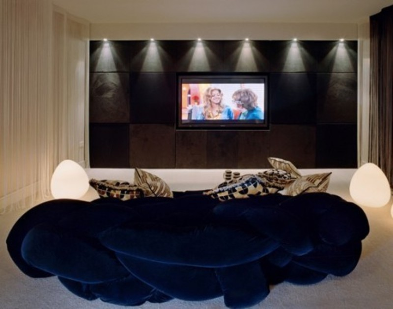 London Media Room Design Pictures Remodel Decor And