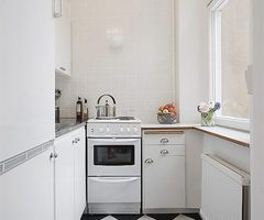 White Small Apartment Kitchen Interior Furniture