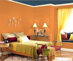 Orange Bedroom Design Ideas Orange Bedroom Wall Paint Color With Blue Ceiling – Fun Design Ideas